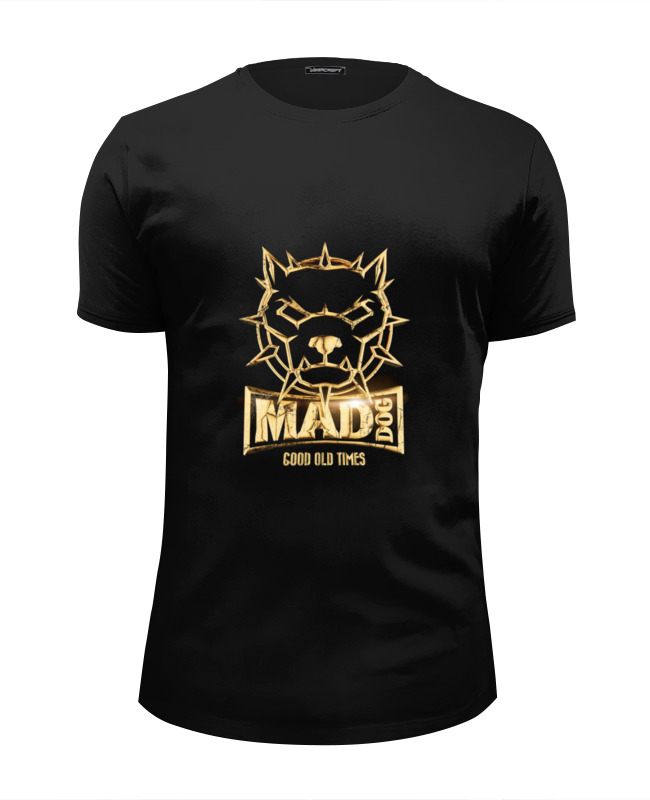 Printio Mad dog gold футболка wearcraft premium slim fit printio roar dog