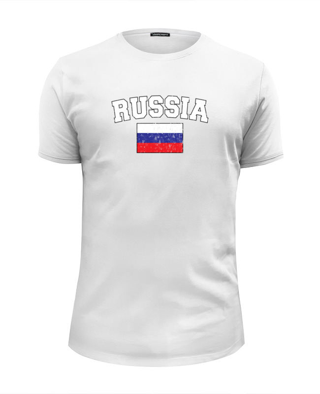 Футболка Wearcraft Premium Slim Fit Printio Флаг - россия футболка wearcraft premium slim fit printio россия царская