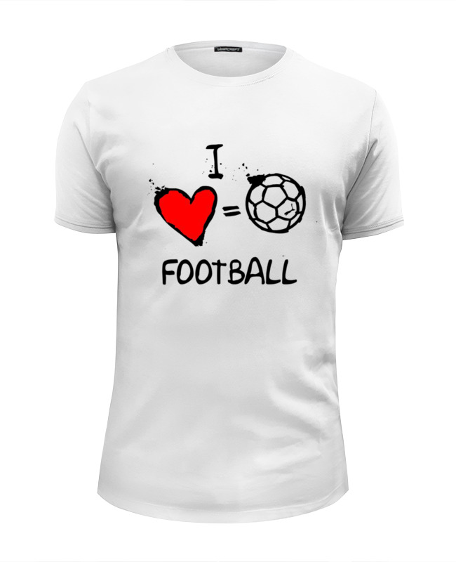 Футболка Wearcraft Premium Slim Fit Printio I love football футболка wearcraft premium slim fit printio i love science я люблю науку