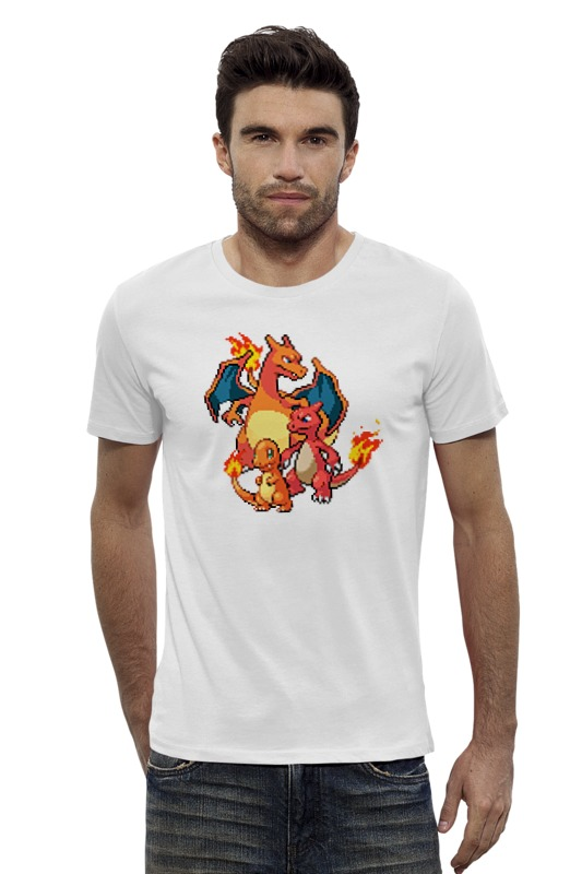 Футболка Wearcraft Premium Slim Fit Printio Покемоны 8-бит (драконы) футболка print bar китайские драконы