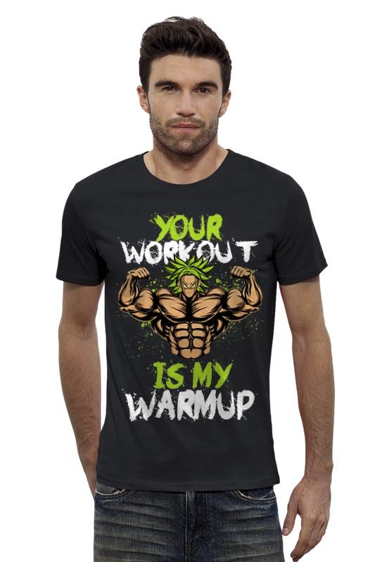 Футболка Wearcraft Premium Slim Fit Printio Твоя тренировка моя разминка футболка wearcraft premium slim fit printio моя печень ненавидит меня