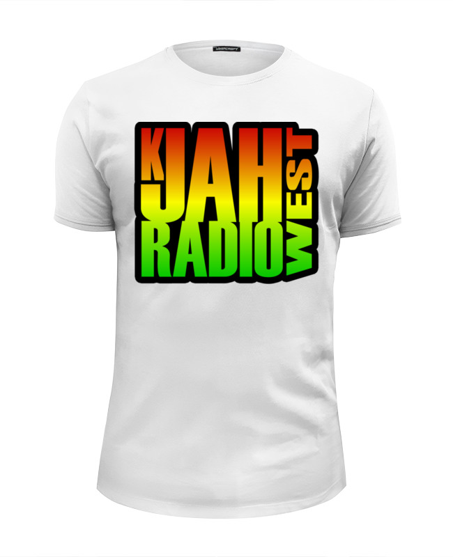 Футболка Wearcraft Premium Slim Fit Printio K-jah west radio yabby u yabby u jah jah way