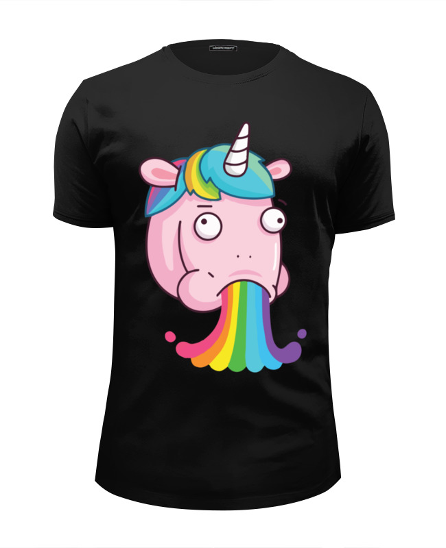 Футболка Wearcraft Premium Slim Fit Printio Unicorn's rainbow / радуга единорога эрже приключения тинтина секрет единорога