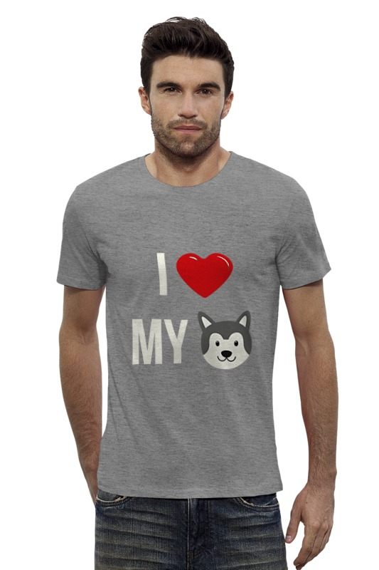 Футболка Wearcraft Premium Slim Fit Printio Я люблю свою собаку футболка wearcraft premium slim fit printio я люблю мир