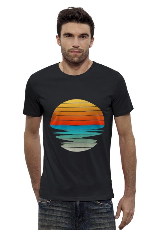 Футболка Wearcraft Premium Slim Fit Printio Солнце футболка wearcraft premium printio оранжевое солнце