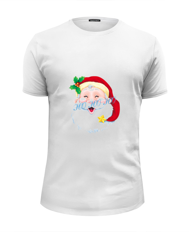 Футболка Wearcraft Premium Slim Fit Printio Веселый санта веселого рождества мама