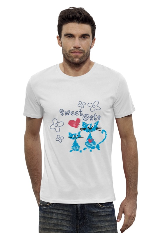 Футболка Wearcraft Premium Slim Fit Printio Sweet cats футболка wearcraft premium slim fit printio кот и кошка
