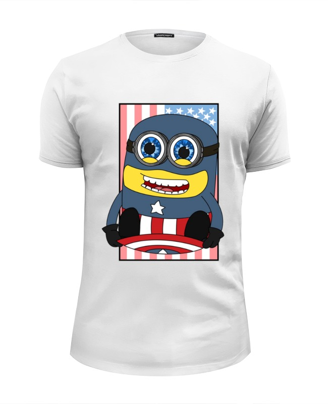 Футболка Wearcraft Premium Slim Fit Printio Captain america футболка wearcraft premium printio america