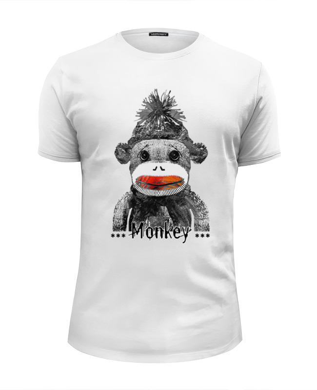 Футболка Wearcraft Premium Slim Fit Printio Monkey 2016 - обезьянка 2016