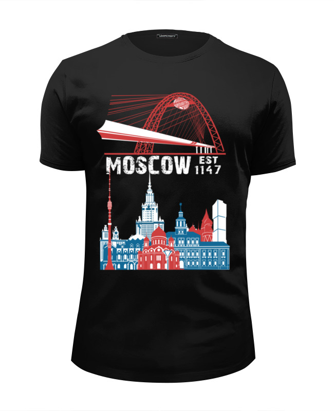 Футболка Wearcraft Premium Slim Fit Printio Moscow. established in 1147 established