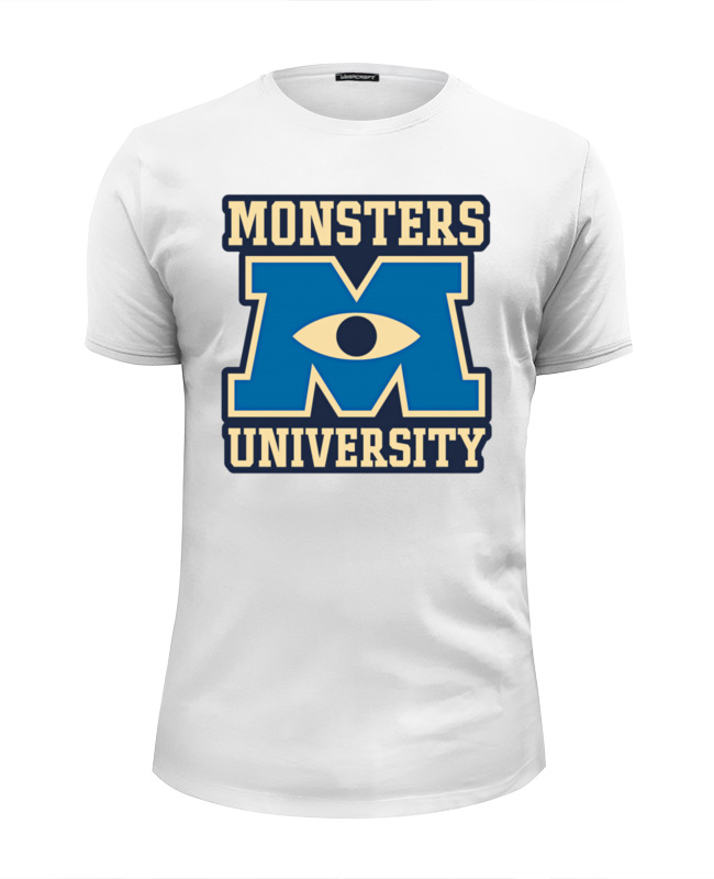 Футболка Wearcraft Premium Slim Fit Printio Monsters university футболка wearcraft premium slim fit printio fukuoka university black