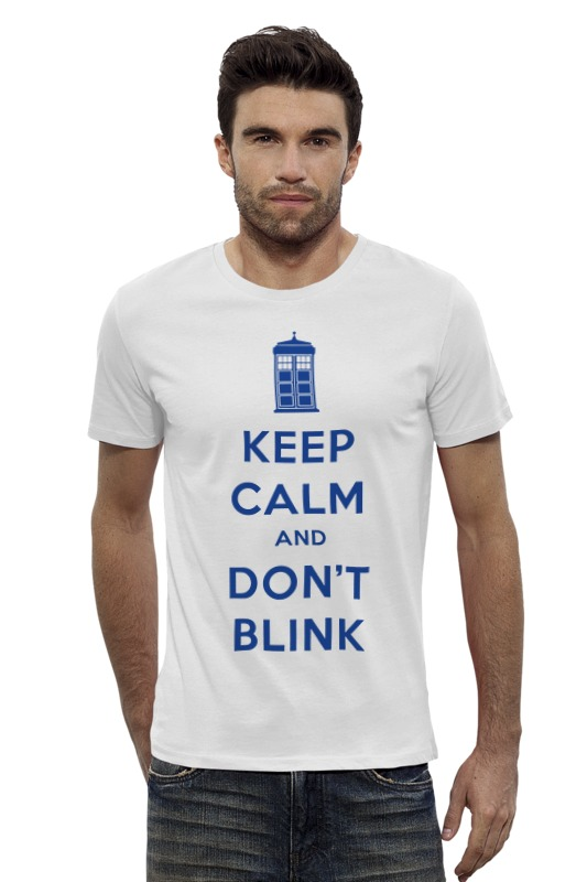Футболка Wearcraft Premium Slim Fit Printio Keep calm and don't blink (tardis) футболка wearcraft premium printio keep calm and be cooler