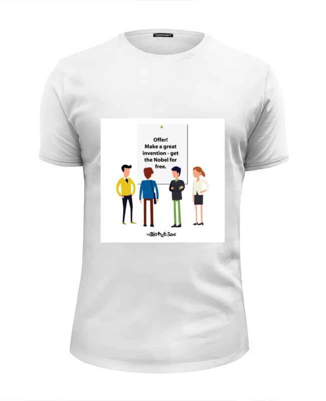Футболка Wearcraft Premium Slim Fit Printio Nobel prize футболка wearcraft premium printio nobel prize