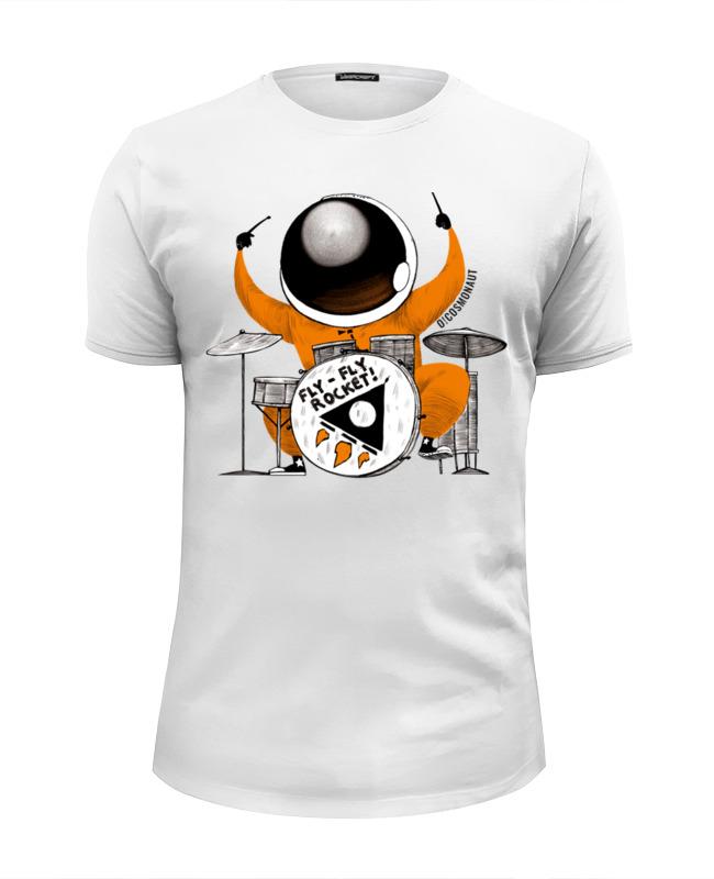 Футболка Wearcraft Premium Slim Fit Printio Космонавт за барабанами футболка wearcraft premium slim fit printio космонавт и звёздочка хотят отправиться в космос