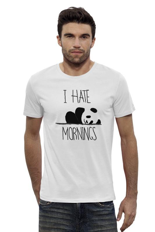 Футболка Wearcraft Premium Slim Fit Printio Я ненавижу утро