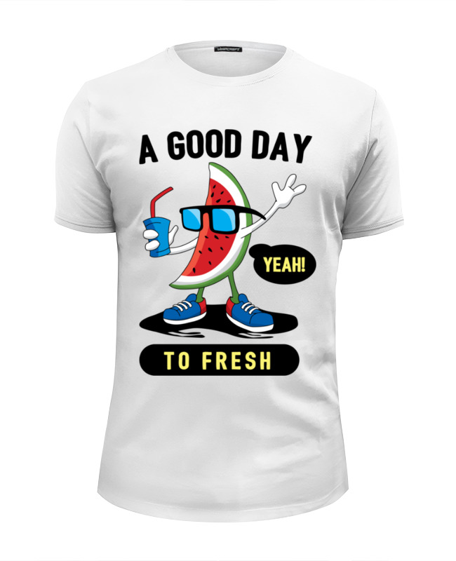 Футболка Wearcraft Premium Slim Fit Printio A good day to fresh 2 day pass good vibes festival 2017