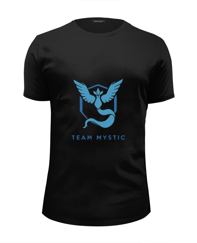 Футболка Wearcraft Premium Slim Fit Printio Team mystic pokemon go