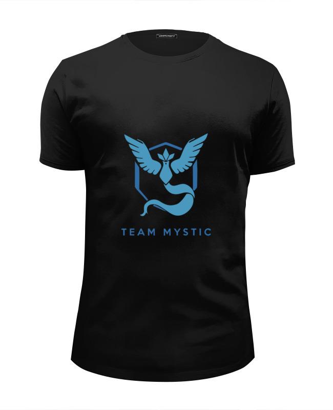 Футболка Wearcraft Premium Slim Fit Printio Team mystic pokemon go цена