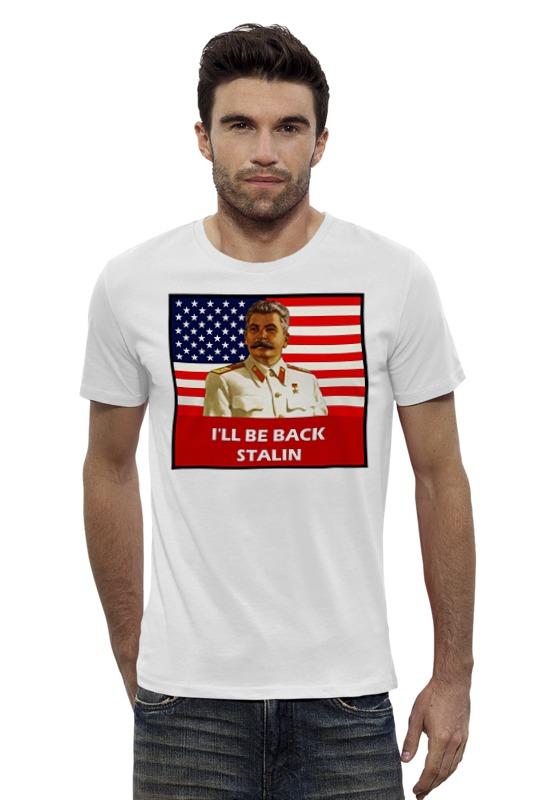 Футболка Wearcraft Premium Slim Fit Printio Сталин - я вернусь
