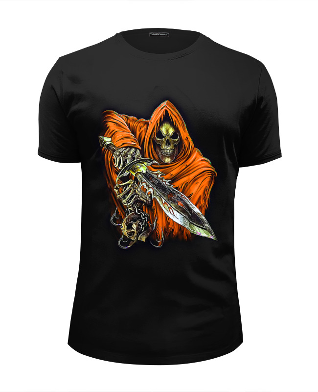 цена Футболка Wearcraft Premium Slim Fit Printio Death skull (halloween)