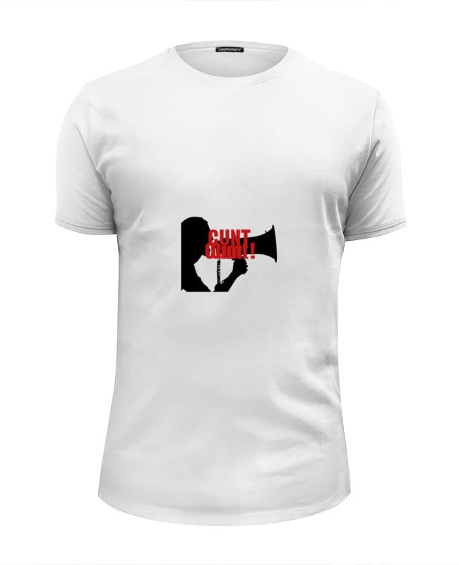 Футболка Wearcraft Premium Slim Fit Printio Cunt t-shirt summer stripe slim fit mens t shirt