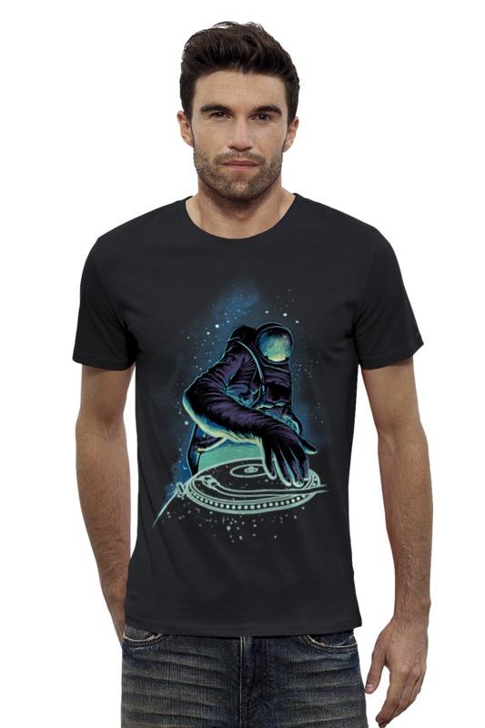 Футболка Wearcraft Premium Slim Fit Printio Космонавт диджей футболка wearcraft premium slim fit printio космонавт
