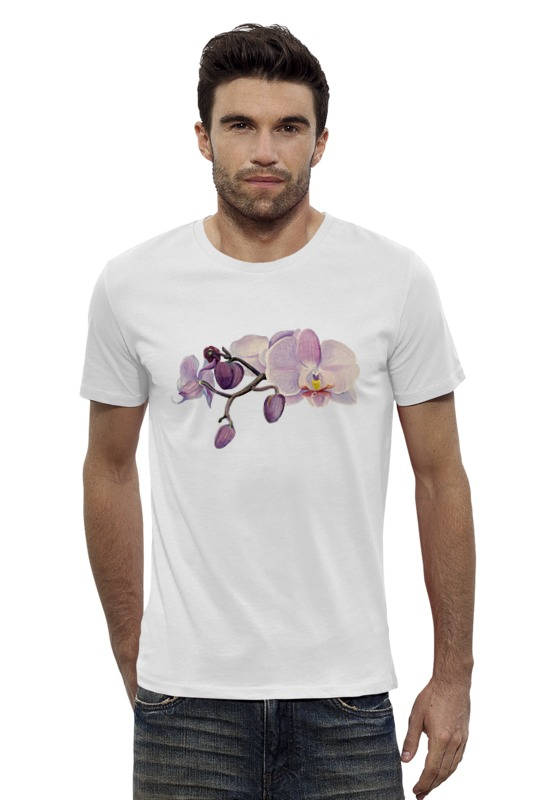 Футболка Wearcraft Premium Slim Fit Printio Ветка орхидеи орхидеи фаленопсис челябинск питомник