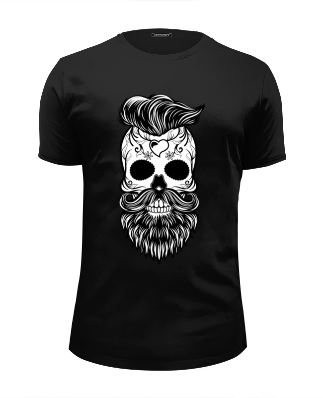 Футболка Wearcraft Premium Slim Fit Printio Hipster skull футболка классическая printio hipster skull