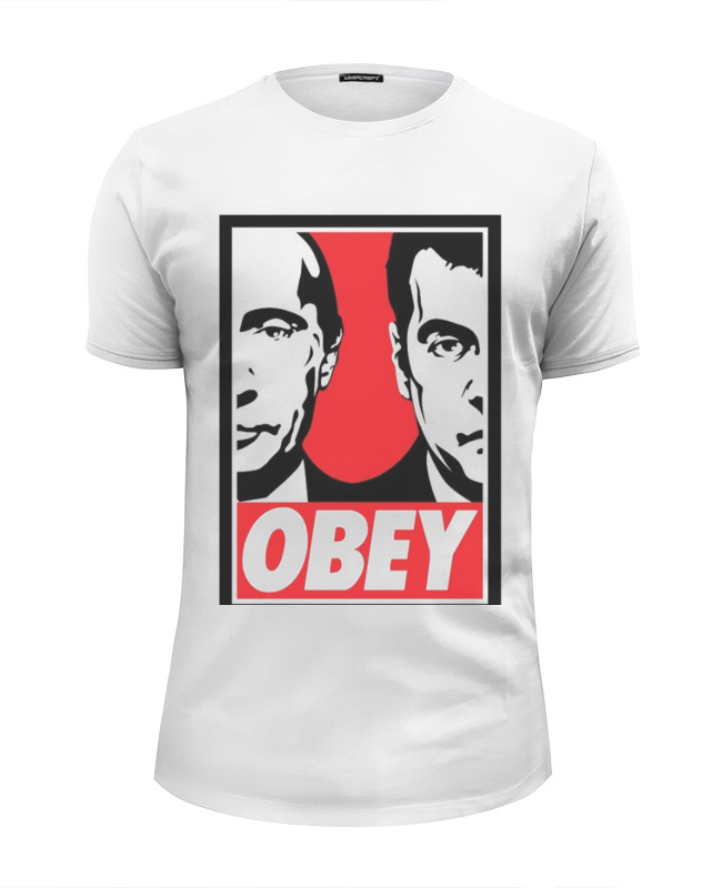 Футболка Wearcraft Premium Slim Fit Printio Obey футболка wearcraft premium slim fit printio kirill obey
