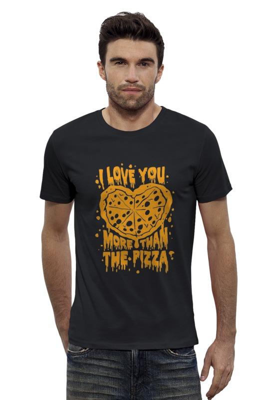 Футболка Wearcraft Premium Slim Fit Printio Я люблю тебя больше, чем пиццу! футболка wearcraft premium slim fit printio я люблю тебя