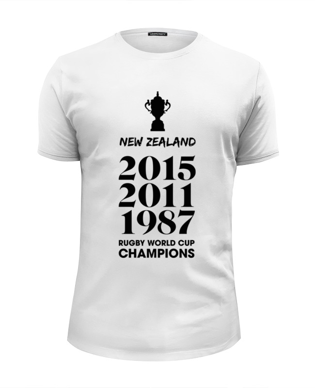 Футболка Wearcraft Premium Slim Fit Printio Чемпионы регби (новая зеландия) лонгслив printio чемпионы регби новая зеландия