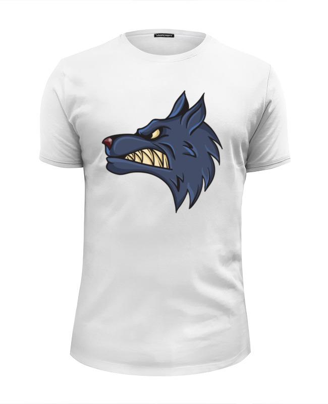 Футболка Wearcraft Premium Slim Fit Printio Angry wolf футболка print bar wolf motivation