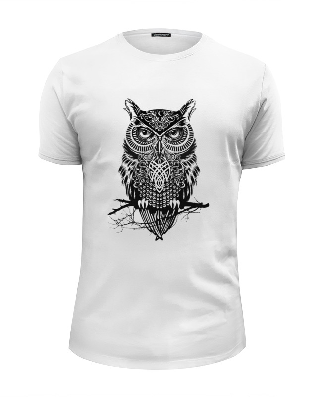 Футболка Wearcraft Premium Slim Fit Printio Оld owl цены онлайн