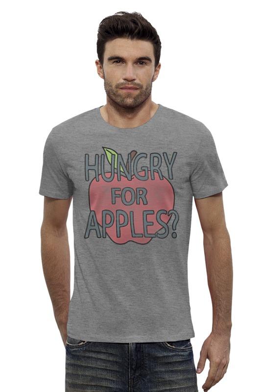 Футболка Wearcraft Premium Slim Fit Printio Hungry for apples? рик и морти недорого