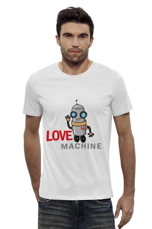 Футболка Wearcraft Premium Slim Fit Printio Love machine футболка wearcraft premium slim fit printio россия russia