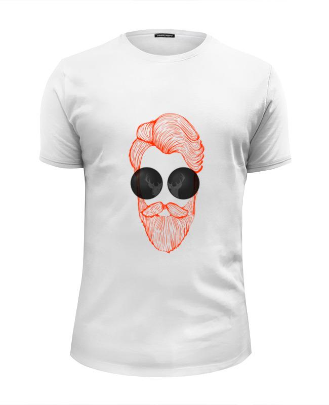 Футболка Wearcraft Premium Slim Fit Printio Beard & glasses худи print bar skull glasses