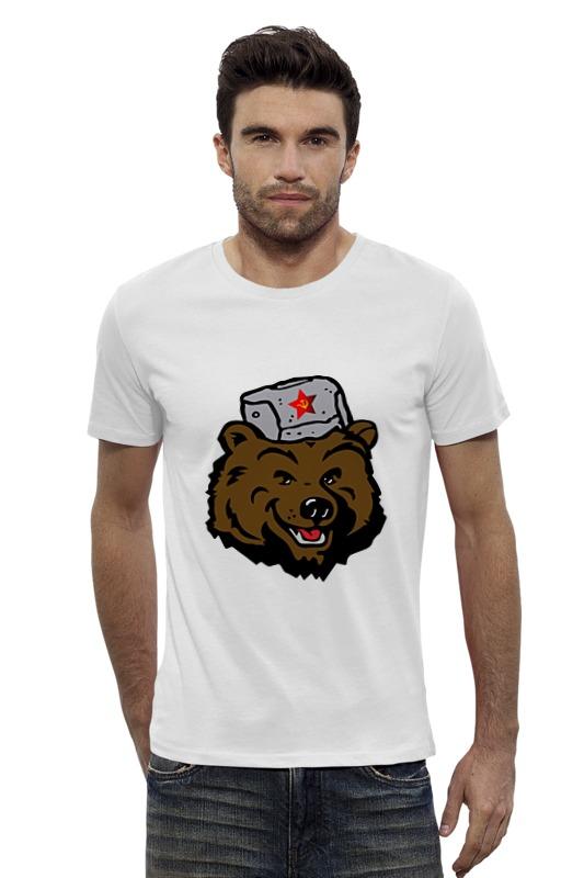 Футболка Wearcraft Premium Slim Fit Printio Russian bear (русский медведь) лонгслив printio bear beer медведь и мед
