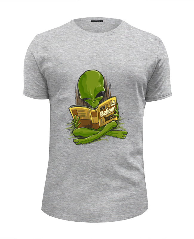 Футболка Wearcraft Premium Slim Fit Printio Нло - как поверить в себя футболка wearcraft premium slim fit printio случай в океане