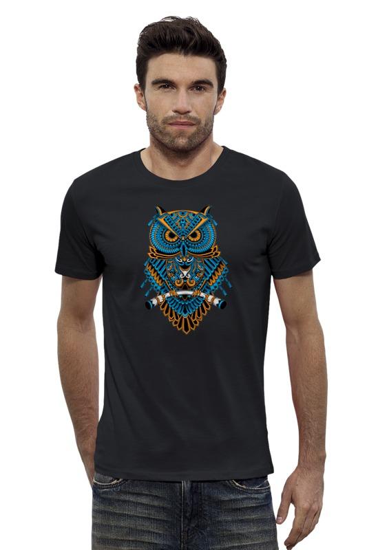 Футболка Wearcraft Premium Slim Fit Printio Абстрактная сова футболка wearcraft premium slim fit printio ночная сова