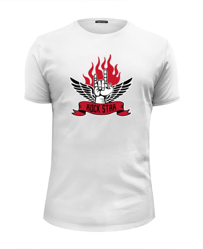 Футболка Wearcraft Premium Slim Fit Printio Rock star (рок звезда) футболка wearcraft premium printio панк рок кафе