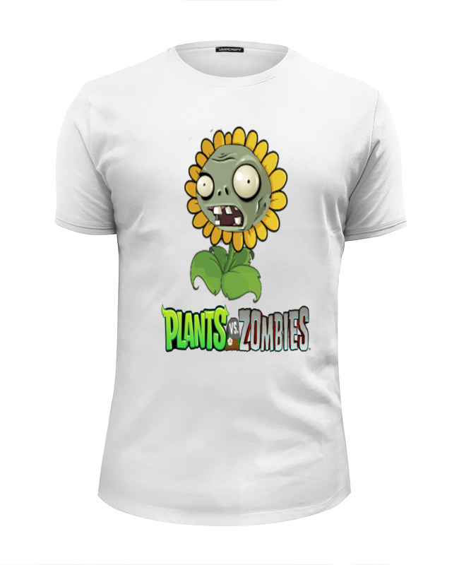 Футболка Wearcraft Premium Slim Fit Printio Plants vs zombies толстовка wearcraft premium унисекс printio plants vs zombies