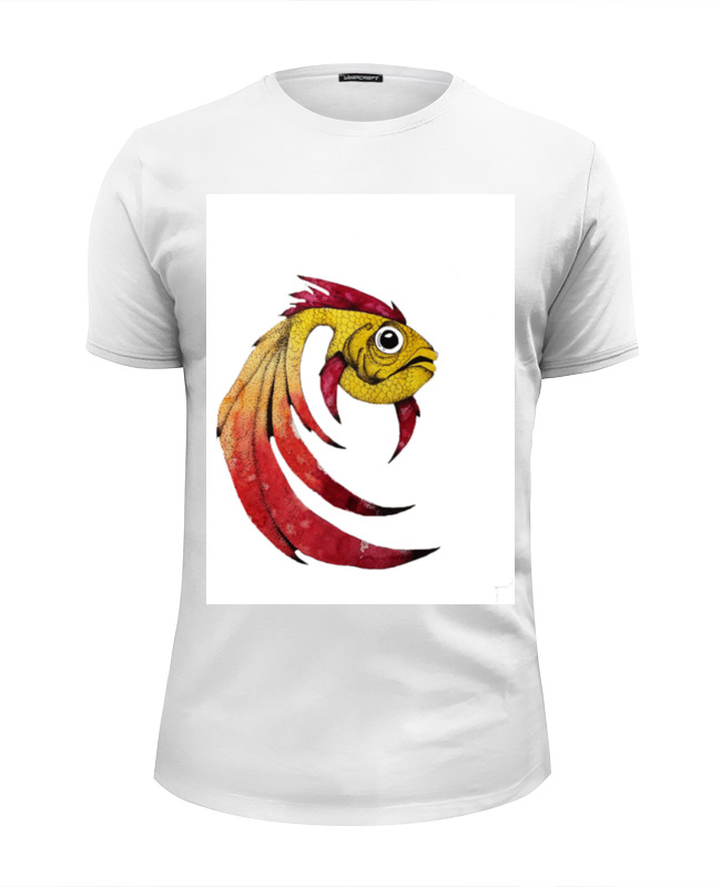 Футболка Wearcraft Premium Slim Fit Printio Золотая рыбка