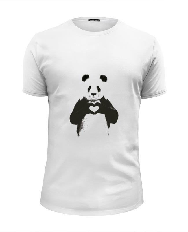 Футболка Wearcraft Premium Slim Fit Printio Панда футболка wearcraft premium slim fit printio белый ходок