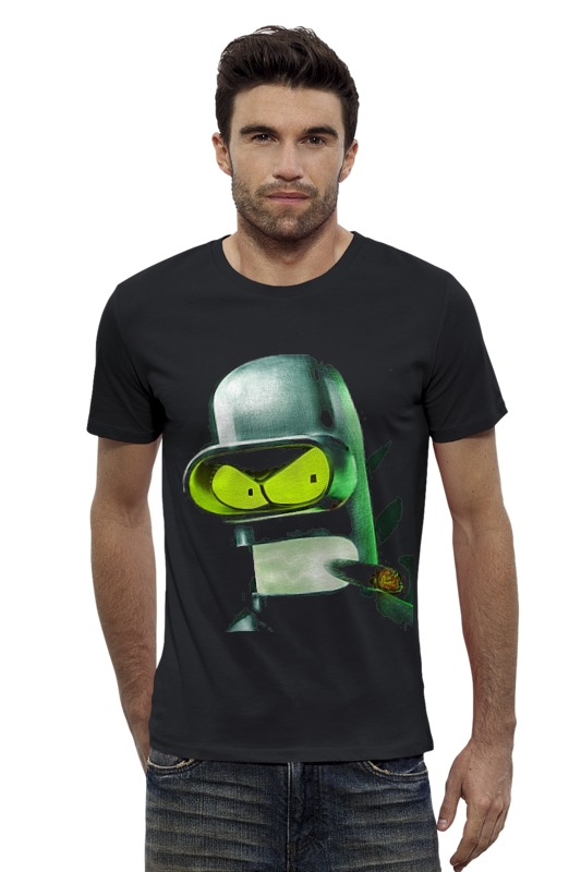 Футболка Wearcraft Premium Slim Fit Printio Bender футболка wearcraft premium slim fit printio bender says