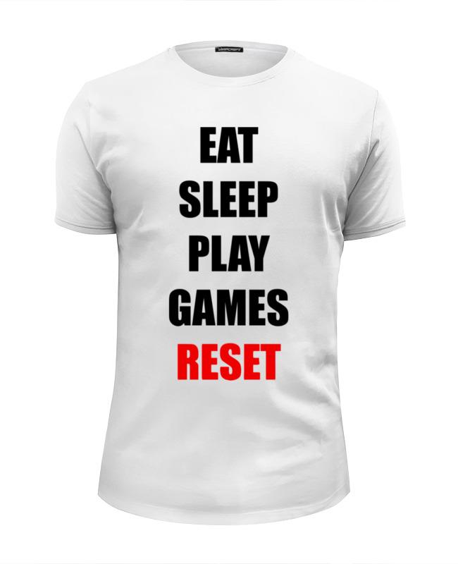 Футболка Wearcraft Premium Slim Fit Printio Играй в игры футболка wearcraft premium slim fit printio игры гомера