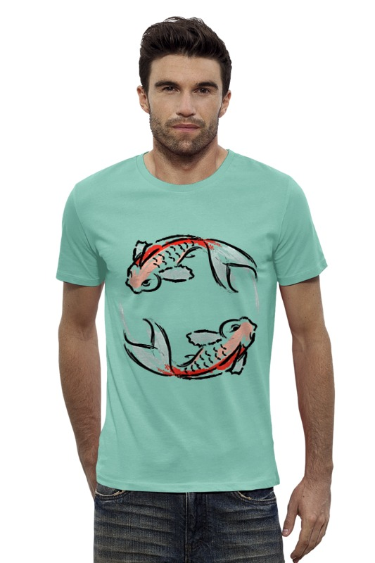 Футболка Wearcraft Premium Slim Fit Printio Знак зодиака рыбы фигурка сувенирная знак зодиака рыбы 798585