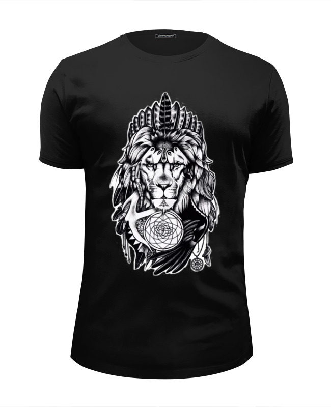 Футболка Wearcraft Premium Slim Fit Printio The lion цена