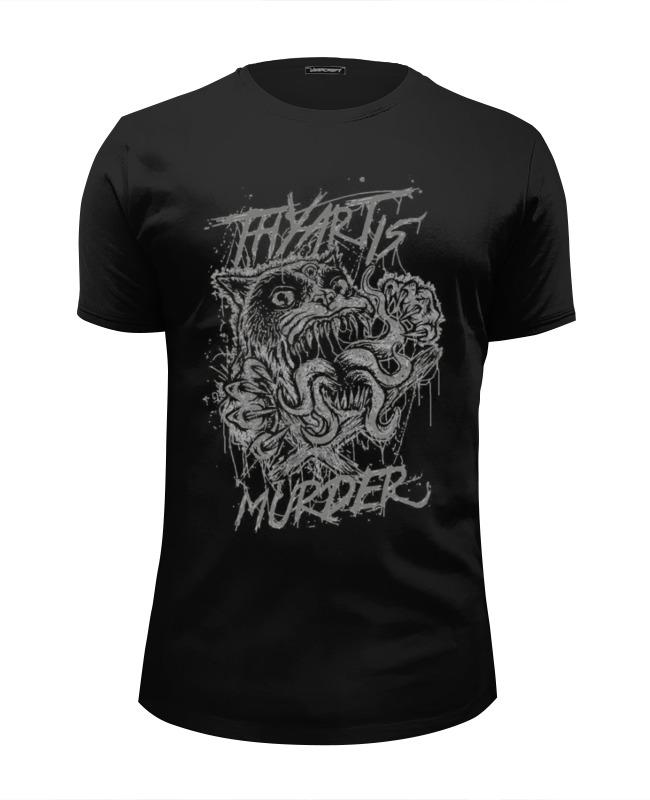 Футболка Wearcraft Premium Slim Fit Printio Thy art is murder murder she wrote the fine art of murder