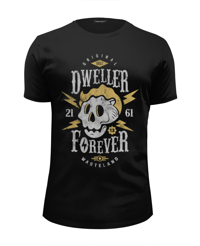 Футболка Wearcraft Premium Slim Fit Printio Fallout. dweller forever