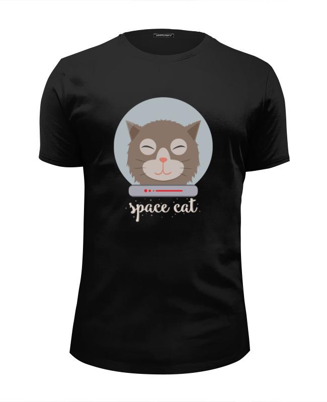 Футболка Wearcraft Premium Slim Fit Printio Космо кот (space cat) футболка wearcraft premium slim fit printio cat life page 5 page 2